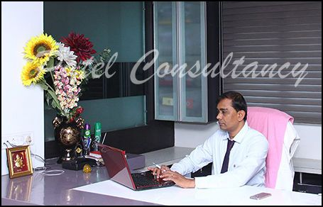 kanti bhai with patel consultancy office